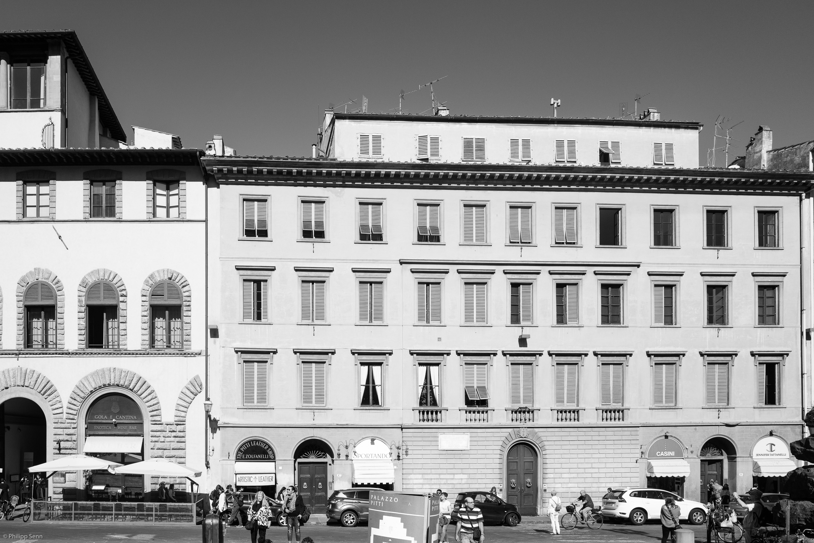 © Philipp Senn. 2016. Florenz. Piazza dei Pitti.