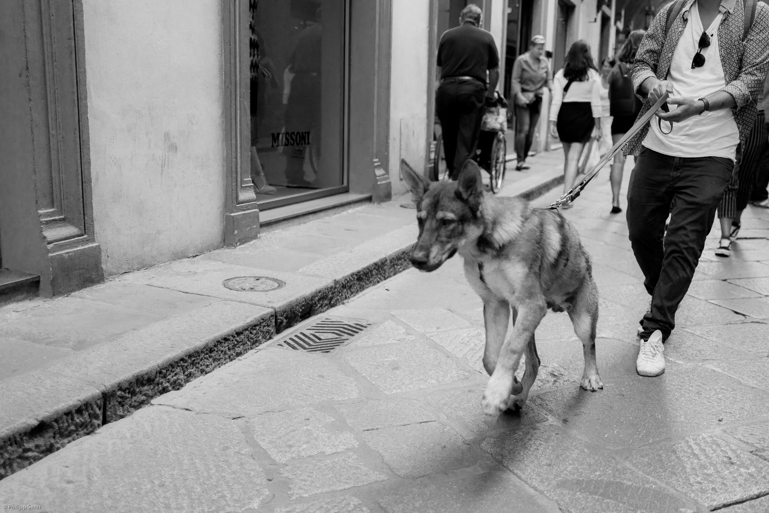 la strada Mailand Rom Florenz Strassenszenen